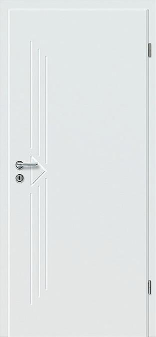Weiß lackierte Türe